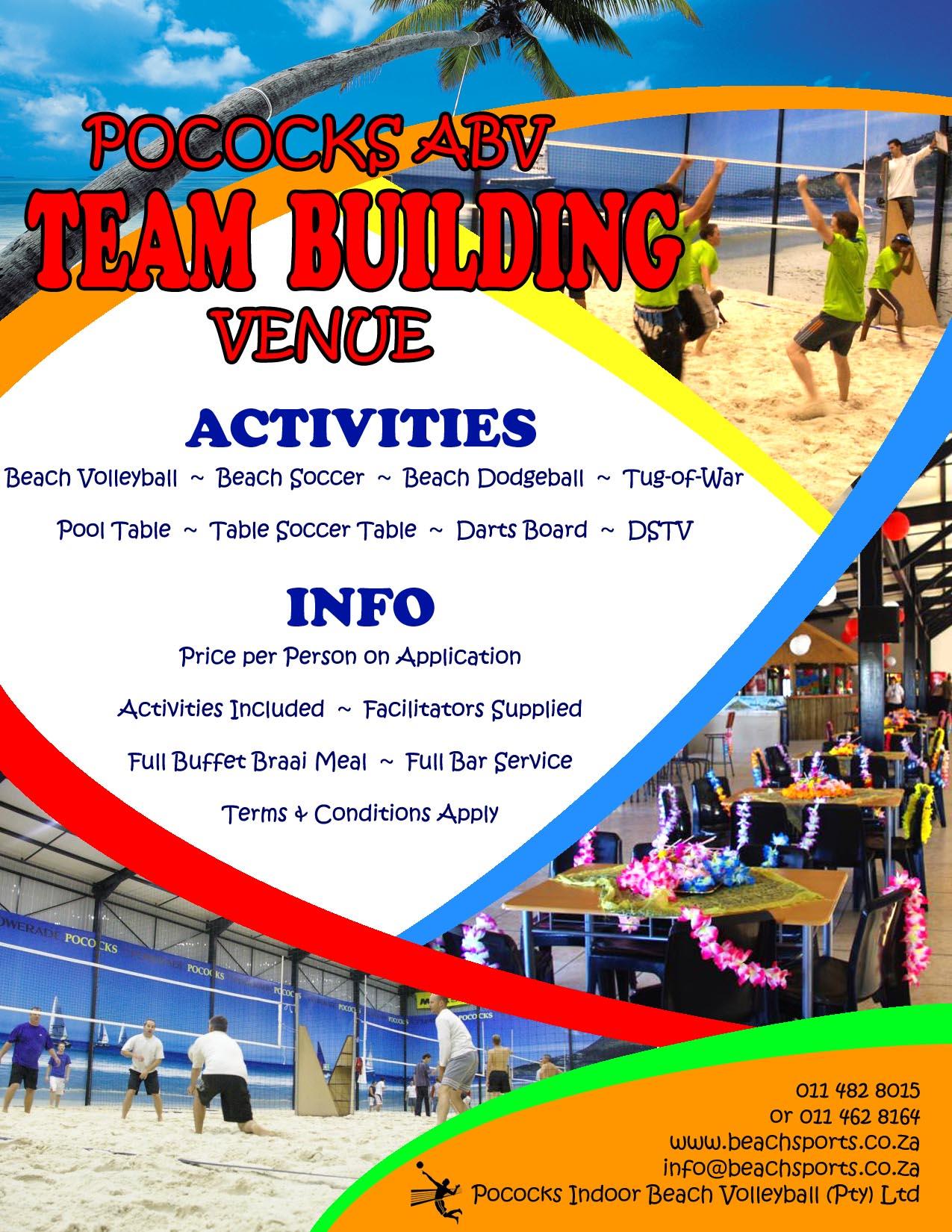 Team Building Events Venue | Pococks Indoor Beach Volleyball
