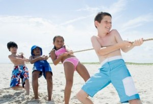 For a fun beach party including facilitator, 20 kids and beach activities.