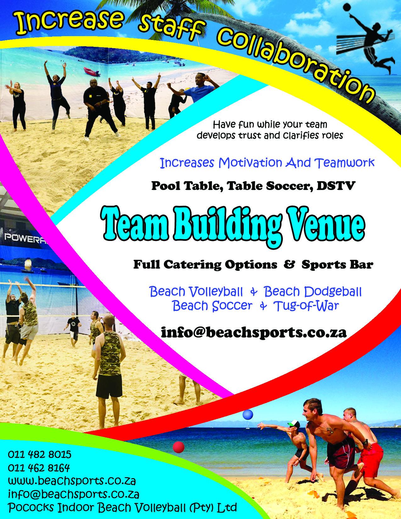 Team Building Events Venue Pococks Indoor Beach Volleyball